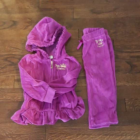 22cc5f3f65e6 Juicy Couture Other - Juicy Couture infant girls velour tracksuit